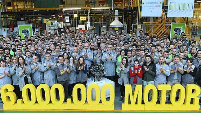 Oyak Renault Türkiye'de 6 milyonuncu motorlarını ürettiler