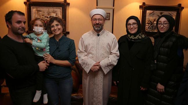 Diyanet İşleri Başkanı Erbaş, 3,5 yaşındaki Öykü Arin için kök hücre bağışı çağrısı yaptı