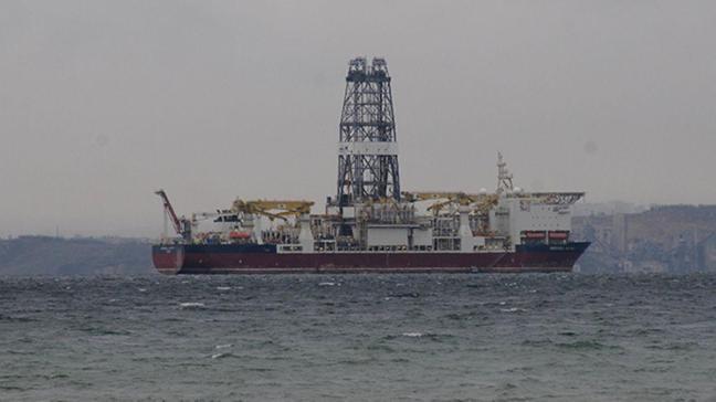 Türkiye'nin yeni sondaj gemisi Yalova açıklarında demirledi