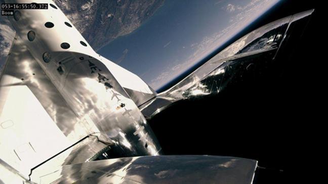 Virgin Galactic uzay aracından bir ilk