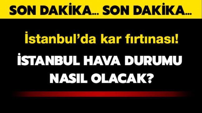 """Son dakika... İstanbul hava durumu Meteoroloji'den uyarı! İstanbul'da kar yağışı sürecek mi"""""""