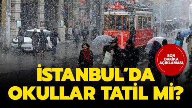 """26 Şubat okullar tatil mi, kar tatili var mı"""" İstanbul'da okullar tatil mi"""""""