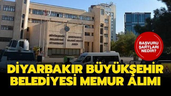 Diyarbakır Büyükşehir Belediyesi personel alımı yapıyor