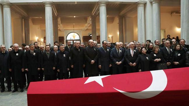 Başkan Erdoğan, Tarihçi Kemal Karpat'ın cenaze töreninde konuştu