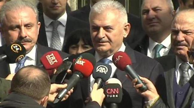 Binali Yıldırım TBMM Başkanı Mustafa Şentop'u Anıtkabir'de ziyaret etti