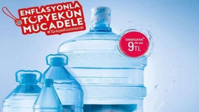 Hamidiye'den su fiyatlarını dengeleyecek kampanya 19 litre 9 TL