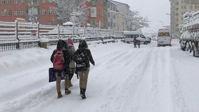Bitlis ve Muş'ta eğitime kar tatili