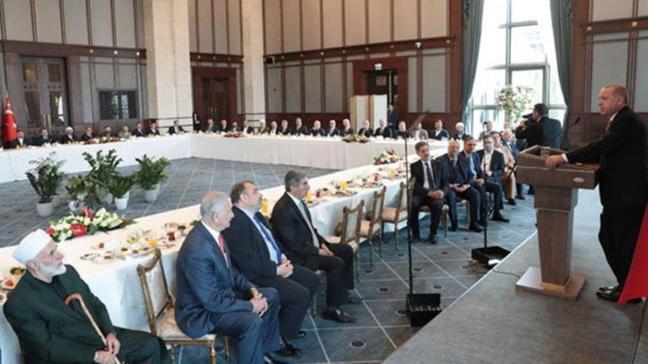 Başkan Erdoğan, kanaat önderlerini kabul etti