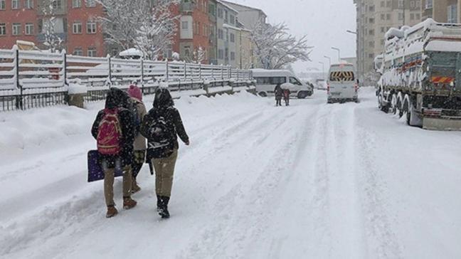 Ağrı ve Elazığ'da okullar kar tatil edildi