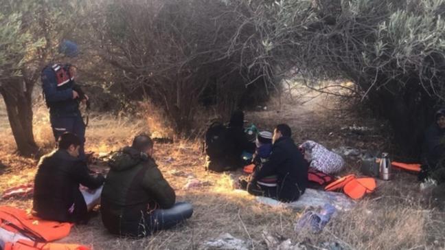 Çanakkale'de 21 düzensiz göçmen yakalandı