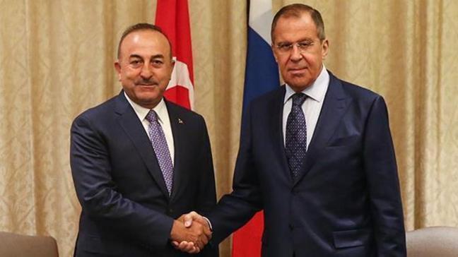 Çavuşoğlu ve Lavrov Suriye'deki gelişmeleri ele aldı