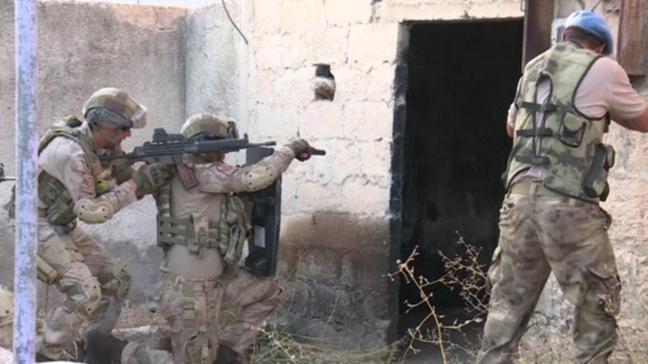 Afrin'deki komando üsleri ilk kez görüntülendi