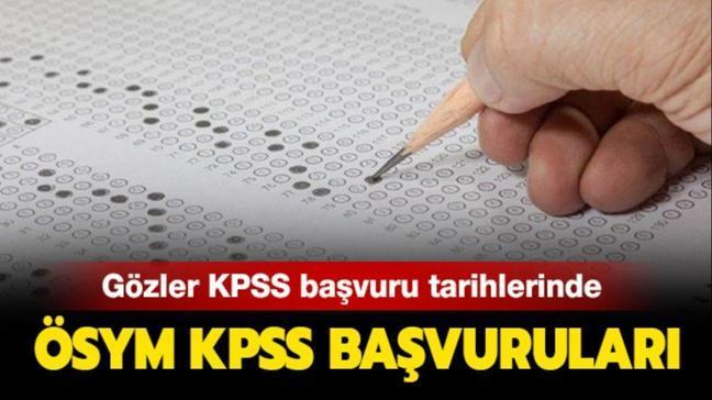 KPSS lisans, ön lisans başvuru tarihleri belli oldu!