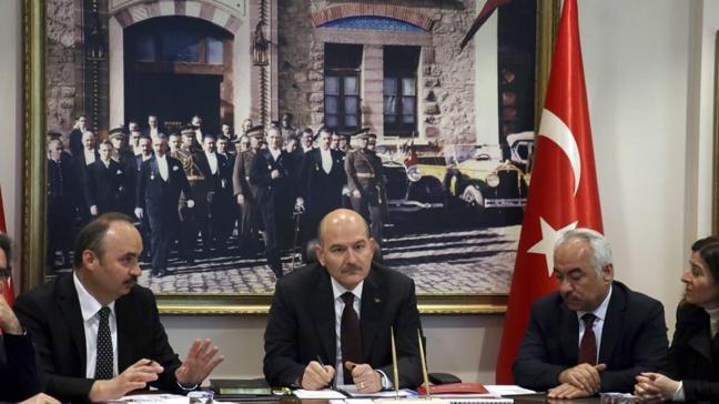 İçişleri Bakanı Soylu, Edirne'deki son durumu havadan inceledi