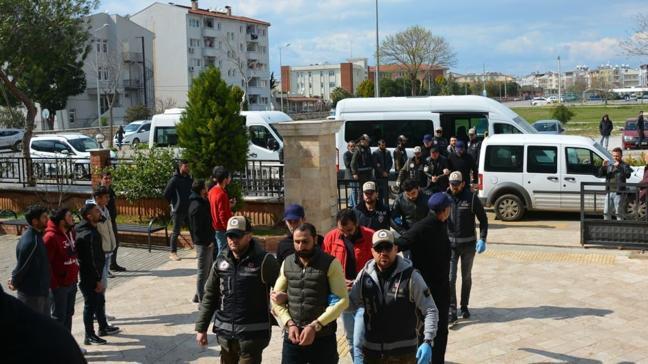 Organize suç örgütü operasyonunda gözaltına alınan 10 şüpheli tutuklandı