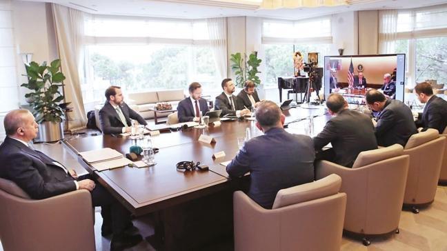 Başkan Erdoğan G20'ye Huber'den katıldı: Küresel güven için bir an önce harekete geçmeliyiz
