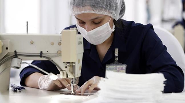 TSK günlük 500 bin maske üretiyor