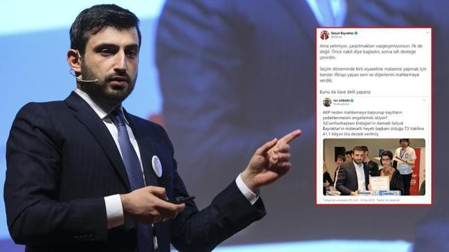 Selçuk Bayraktar'dan CHP'li Ağbaba'ya görselli yanıt: Bunu da ilave delil yaparız