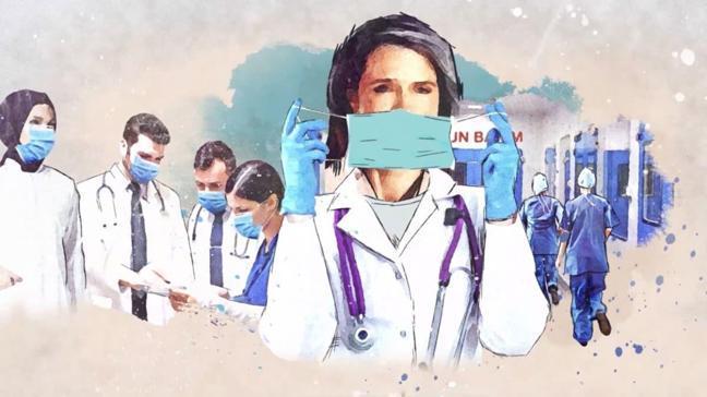 """AK Parti'den sağlık çalışanlarına teşekkür klibi... """"Bu milletin gücünü her an kalbinde hisset"""""""