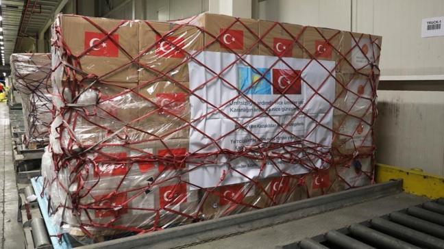 Başkan Erdoğan talimat vermişti... Türkiye'den Kazakistan'a tıbbi malzeme yardımı