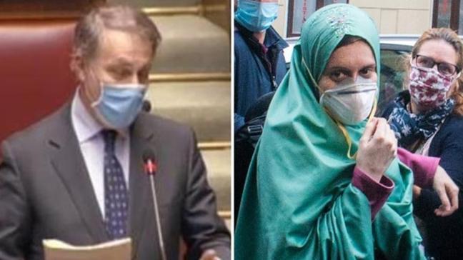 İslamiyet'i seçen Silvia Romano'ya Meclis kürsüsünden ağır hakaret