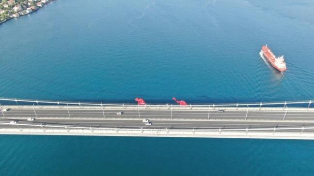 15 Temmuz Şehitler Köprüsü'ndeki denetimler havadan görüntülendi