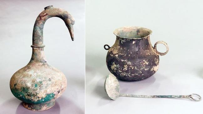 Mezarda 2 bin yıllık Çin testisi bulundu! İçindeki sıvı çözülemedi