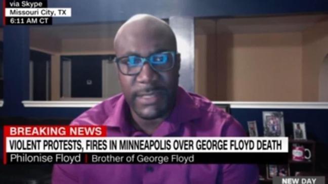 George Floyd'un kardeşi canlı yayında ağladı...  Trump bana konuşma fırsatı vermedi