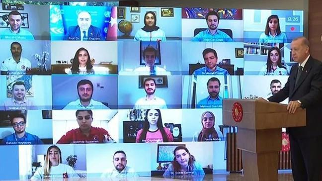 Başkan Erdoğan, 31 Mayıs Dünya Tütünsüz Günü'nde videokonferans ile gençlerle buluştu