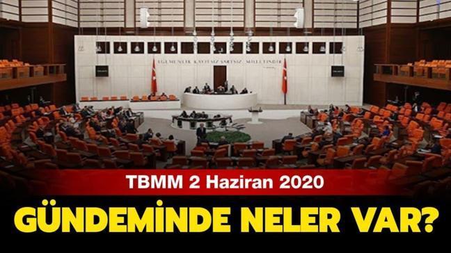 """TBMM açıldı mı"""" 2 Haziran 2020 TBMM gündemi nedir"""""""