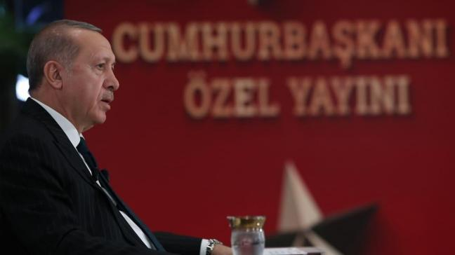 Başkan Erdoğan canlı yayında gündemi değerlendirdi... Yunanistan'a Ayasofya yanıtı