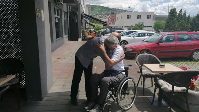 25 yıl sonra tarihi buluşma! Savaşta hayatını kurtarmıştı