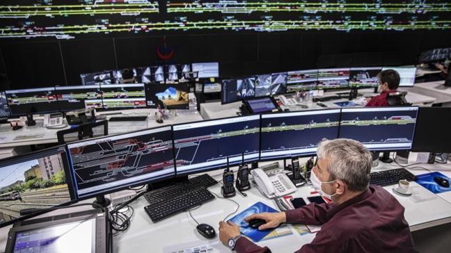 Marmaray Trafik Yönetim Merkezi yerli ve milli haberleşme ağı ile çalışıyor