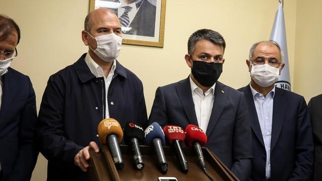 Bakan Soylu ve Bakan Pakdemirli sel felaketinin yaşandığı Bursa'da açıklamalarda bulundu