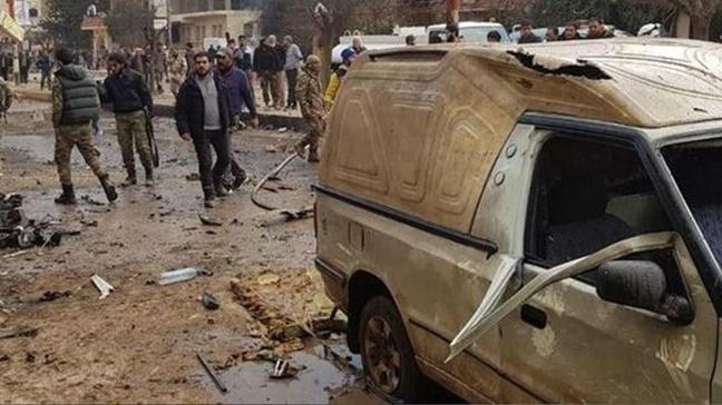 Afrin'de bombalı terör saldırısı: 2 ölü, 5 yaralı