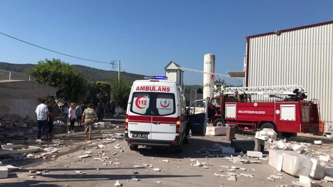 Muğla'da fabrikanın buhar kazanı patladı: 1 yaralı