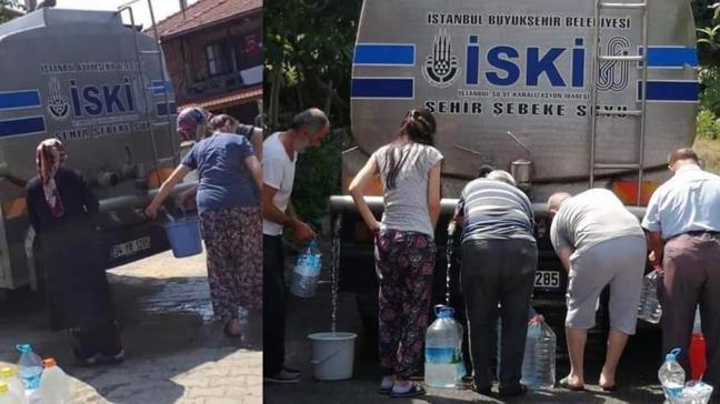 İstanbul'da yıllar sonra taşıma su dönemi: Vatandaşlar İSKİ tankeri önünde sıraya dizildi