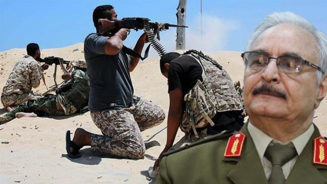 Kritik bölgede sıcak çatışma! Hafter milisleri birbirine düştü