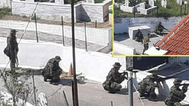 Yunanlılar, fotoğrafların çekilebileceği olası noktaları işaretleyerek Müslüman Türkleri hedef gösterdi