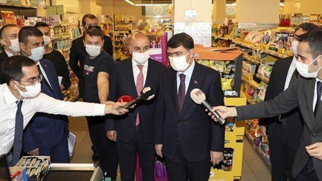 Ankara Valisi Şahin, iş yerleri ve pazar alanlarında alınan tedbirleri denetledi