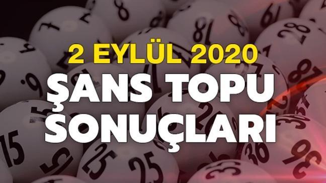 MPİ Şans Topu 2 Eylül 2020 sonuçları