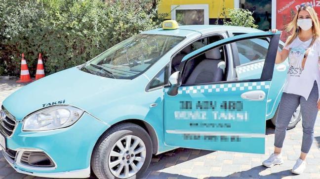Otomobil tutkusu taksi şoförü yaptı