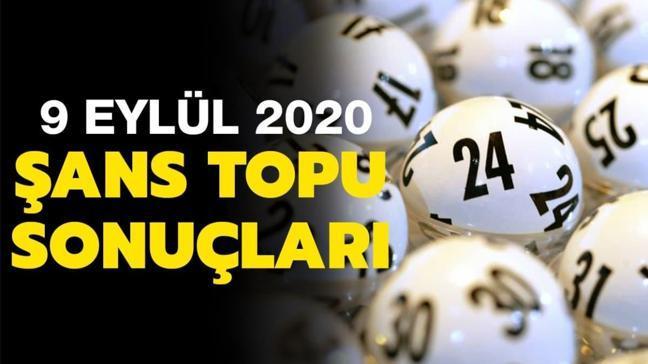 Şans Topu 9 Eylül 2020 sonuçları