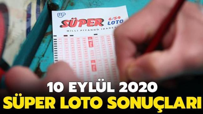 Süper Loto sonuçları 10 Eylül 2020
