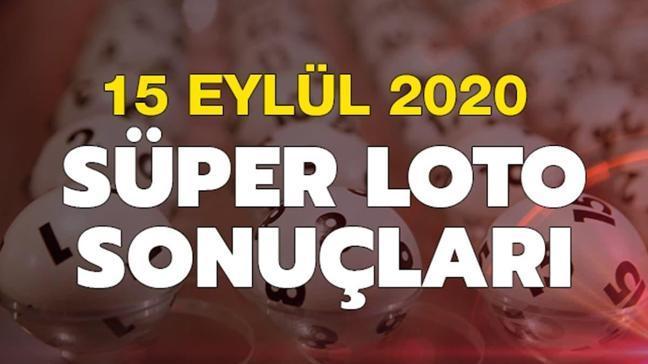 Süper Loto sonuçları 15 Eylül 2020