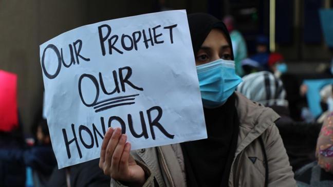 Kanada'da Fransa ve Macron'un İslam karşıtlığı protesto edildi: Peygamberimiz onurumuzdur