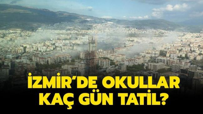"""İzmir'de okullar ne zaman açılacak"""" İzmir'de okullar tatil mi"""""""