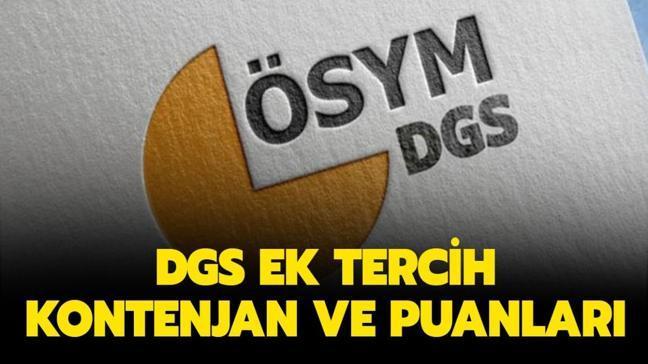 DGS ek tercih kontenjanları yayınlandı: DGS ek tercih taban puanları listesi 2020!