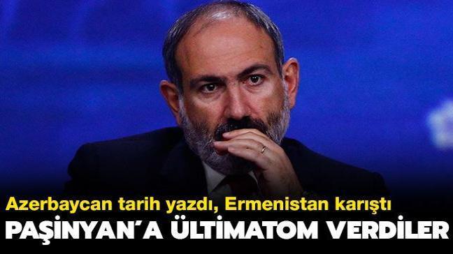 """Azerbaycan tarih yazdı... Ermenistan karıştı: Muhalefetten Paşinyan'a """"istifa et"""" ültimatomu"""
