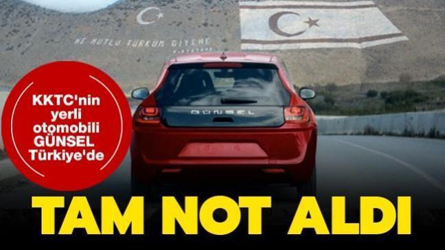 KKTC'nin yerli otomobili GÜNSEL Türkiye'de sergilendi: Tam not aldı